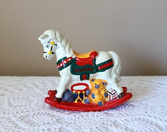 Vintage Horse Coin Bank, Carousel, Toy