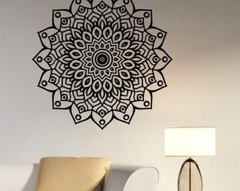 Mandala Vinyl Decal Wall Sticker Indian Ornament Decorations for Home Housewares Living Room Yoga Studio Dorm Namaste Decor mnd12