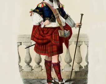 Clan Robertson -  Scottish Clan ~ Kilt - Traditional Tartan and Arms ~  Scotland ~ Scottish Genealogy ~ Family Tartan - Highlander - Gaelic