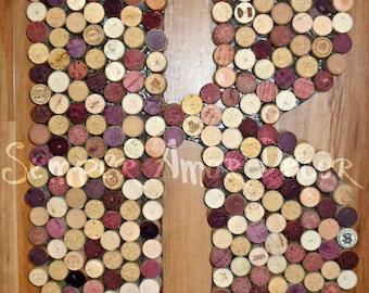 Wine Decor, Wine Cork Letter, Bar Decor, Wine Cork Monogram, Wine Cork Initial, Wine Corks, Cork Letters, Bar Letters, Wine Bar Decor, 18In