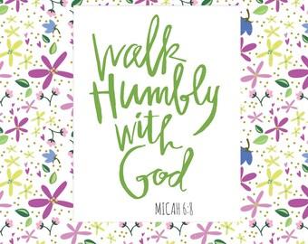 Walk Humbly with God - Art Print