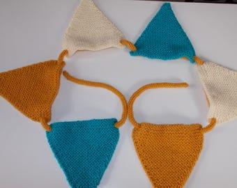 Handmade knitted Bunting