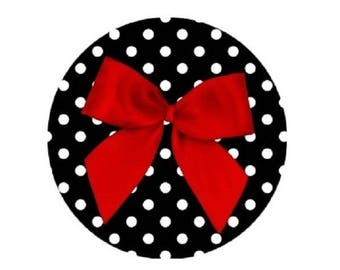pretty red bow, 18mm