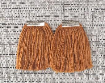 Orange Fringe Earrings, Tassel Earrings, Boho Chic Earrings, Gypsy Earrings, Boho Fringe Earrings, Statement Earrings, Tribal Earrings