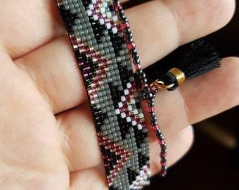 Cuff Bracelet multi strands tassel