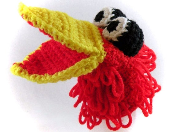 Red Bird Little Kid's Hand Puppet - Made Just For Tiny Hands!
