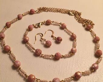 Pink and Gold Minimalist Set