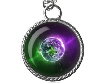 Nebula Necklace, Space, Galaxy Image, Gifts For Her Pendant Key Chain Handmade