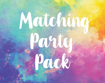 Matching Party Package, Printable Party Decorations, Birthday Party Decorations Digital File
