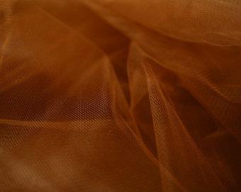 "Brown Tulle Fabric 56"" Wide Per Yard"