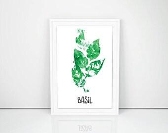 Basil Herb Wall Art Printable