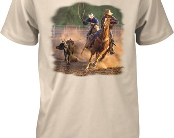 Ropin on the Ranch, Cowboys, Cowgirls Men's T-shirt, NOFO_00393