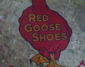 Red Goose Shoes metal stool