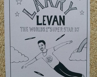 The Story of LARRY LEVAN: The first superstar DJ - Illustrated Zine 2nd edition purple Paradise Garage New York - Disco Remix - very Ltd run