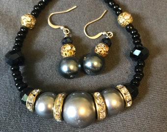 Black charcoal and gold set