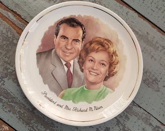 Richard Nixon and First Lady Commemorative Plate