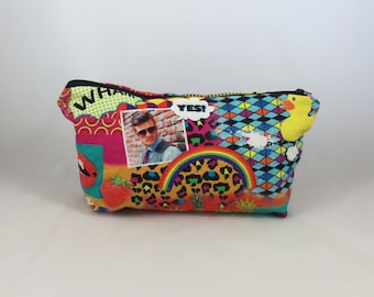 Bright, colourful makeup bag, colourful pencil case, colourful pouch, funky pencil case, funky pouch,   Teenage pouch, kids pencil case