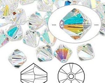 Swarovski Crystal AB beads 8MM (10) 5301 bicone