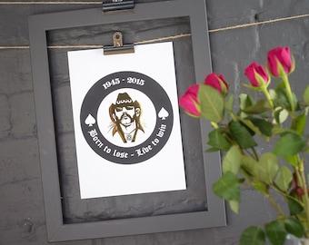 Lemmy Kilmister foil print