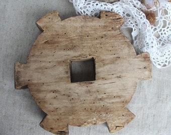 Weaving loom part Weaving tools Antique weaving loom Old wood part Ancient supplies Loom parts Farmhouse wall decor Loom supplies