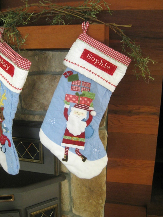 Items Similar To Christmas Stocking Pottery Barn Quilted