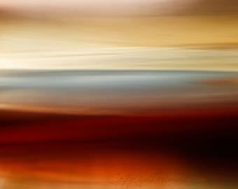 Blue Horizon.  Contemporary. Abstract Landscape Photography. Giclee. Museum paper