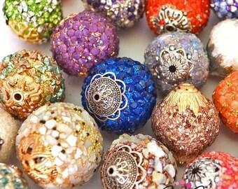 40 Piece Artisan Sparkling Focal Bead Set