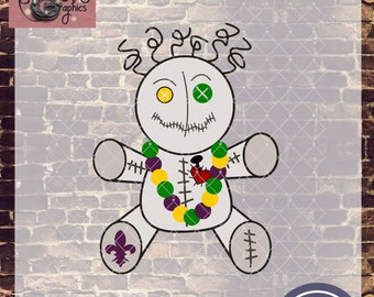 Mardi Gras Voo Doo Doll with SVG, DXF, PNG, Eps Commercial & Personal Use