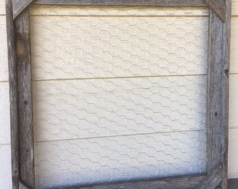 Rustic Frame with Chicken Wire Backing