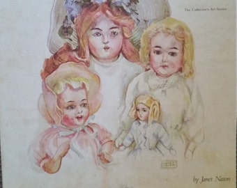 Vintage Antique German Bisque Paper Doll book by Janet Nason