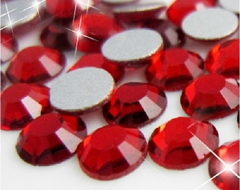 Red 5mm SS20 Flat Back Glass Rhinestones 1440ct
