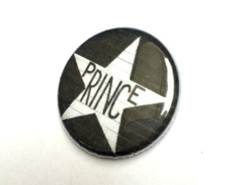 Prince First Avenue Star Fan Tribute Commemorative 25mm Button Pin Badge Brooch