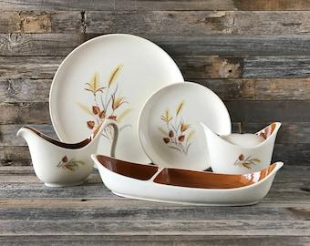 25 Piece Vintage Taylor Smith Taylor Autumn Harvest Dinnerware