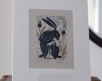 Hare with poppy seeds