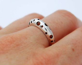 Moon like Ring - Sterling silver ring minimalist ring