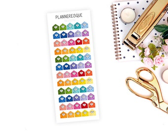 60 Colorful Mail Stickers - MI 0022