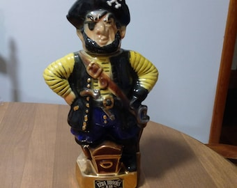 Ezra Brooks 1971Pirate Decanter/ 24kt gold trim