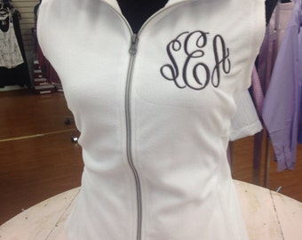 Monogrammed vest