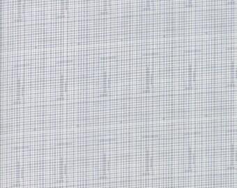 Hello World Grey Grid fabric by Abi Hall for Moda Fabric #35305-19