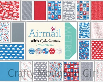 Airmail Charm Pack by Eric & Julie Comstock for Moda