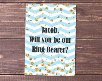 Ring bearer proposal Ring Bearer jigsaw Page Boy gift ring bearer puzzle will you be our ring bearer puzzle ring bearer proposal puzzle