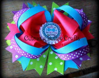 The bigger the bow the better the mommy boutique hair bow - big Boutique Hair Bow - stacked boutique hair bow - large boutique hair bow