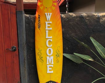 Surfing Welcome Sign