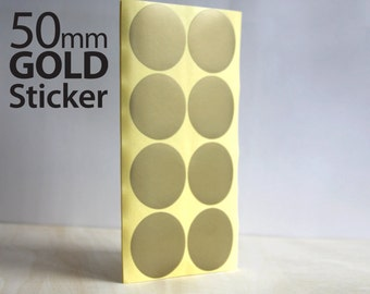 Set 104, Gold Circle sticker 50mm