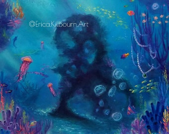 """Oil Painting """"Floundered"""" 