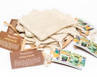 Natural Plant Fiber Soap Sack. Soap Sack Exfoliator. Biodegradable & Compostable. Soap Bar  Holder.