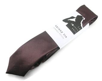 Chocolate Brown skinny tie