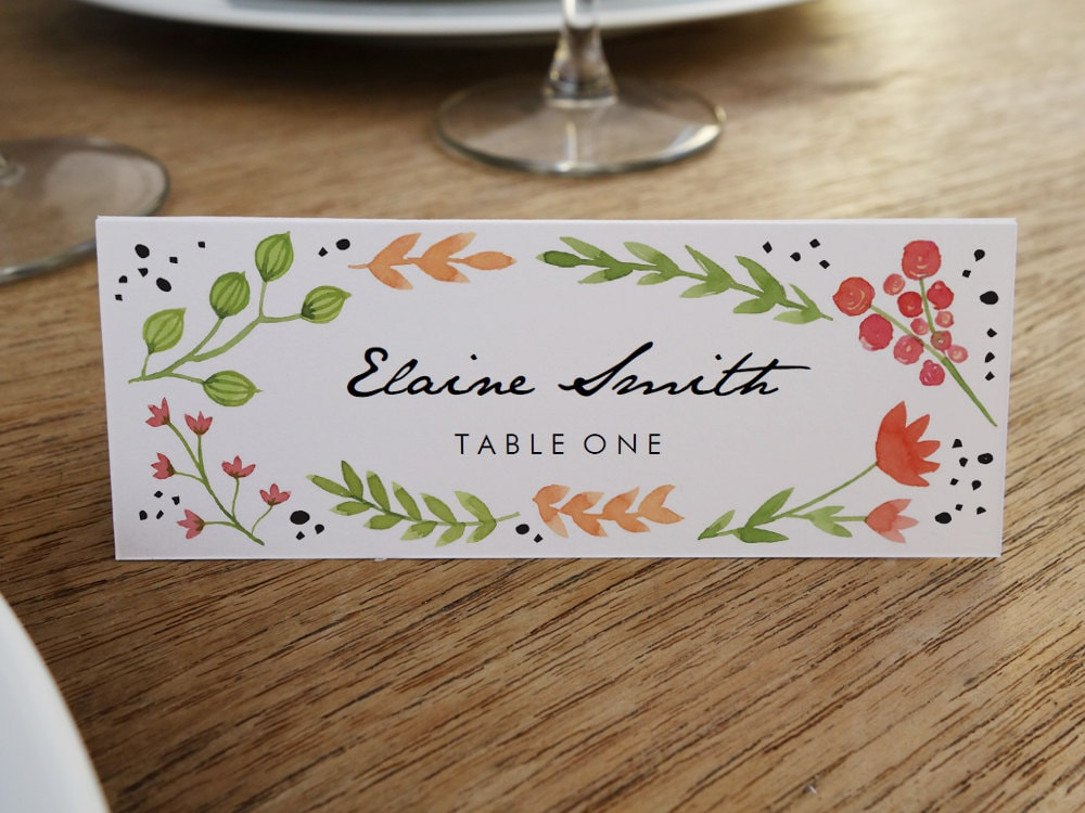 This is a picture of Monster Printable Place Cards Template