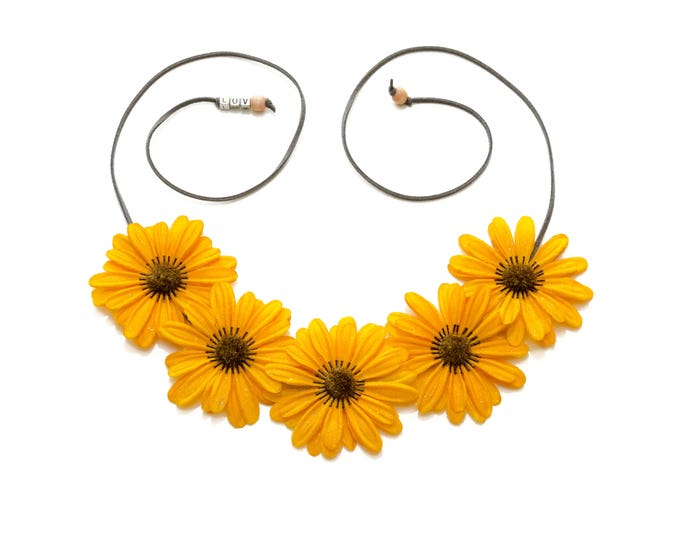 Autumn Yellow Daisy Flower Crown