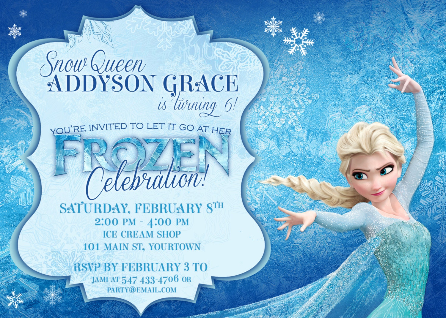 Frozen Theme Invites Idas Ponderresearch Co